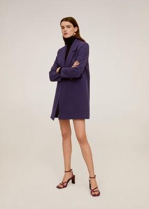 MANGO Lapelled straight-cut coat