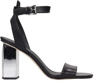 Michael Kors Petra Sandals In Black Leather