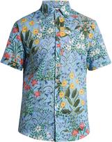 Gucci Floral-print cotton-voile shirt