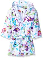 Komar Kids Girls Mermaid Print Cotton Terry Beach Cover Up, Kids Size L(10/12)