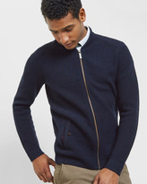 Wool Zip Up Cardigan