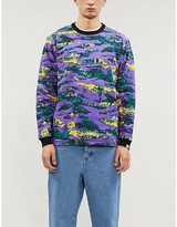 Billionaire Boys Club Camouflage-print reversible cotton-jersey sweatshirt