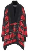 Balmain Wool-blend plaid coat