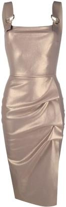 Le Petite Robe Di Chiara Boni High-Shine Draped Dress