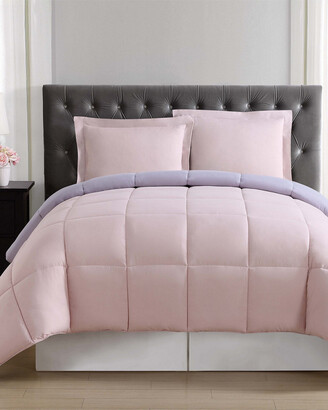 Truly Soft Everyday Blush & Lavender Reversible Comforter Set