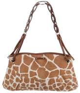 Sergio Rossi Leather-Trimmed Ponyhair Shoulder Bag