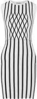 Opening Ceremony Argyle striped ponte mini dress