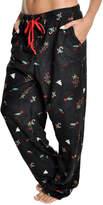 Angelina Black Holly Fleece Pajama Pants