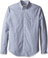 Lacoste Men's Long Sleeve Oxford Multi Color Check