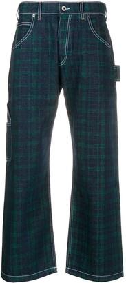 Paccbet Straight Tartan Print Jeans