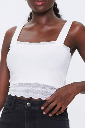 Forever 21 Lace-Trim Crop Top