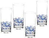 Spode Blue Italian Highball Glasses (Set of 4)