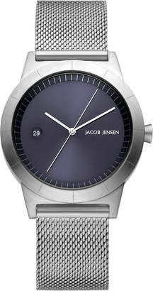 Jacob Jensen Womens Analogue Classic Quartz Watch with Stainless Steel Strap JJ153