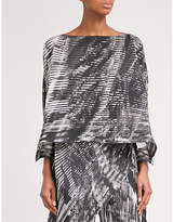 Issey Miyake Double Stream pleated top