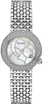Bulova Women's Diamond Accent Stainless Steel Bracelet Watch 28mm 96R209 - A Macy's Exclusive