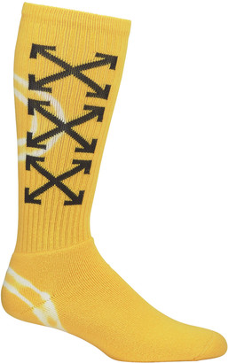 Off-White Men's Arrow Tie-Dye Mid-Calf Socks