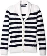 Nautica Men's Breton Stripe Cardigan