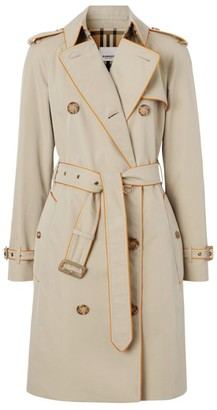 Burberry Piped Cotton Trench Coat