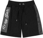 Philipp Plein Evening Black Cotton Shorts