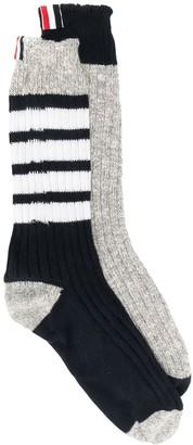 Thom Browne 4-Bar Detail Socks