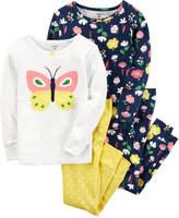 Carter's Toddler Girl Embroidered Tees & Pants Pajama Set