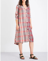 Free People Checked Woven Shirt Dress