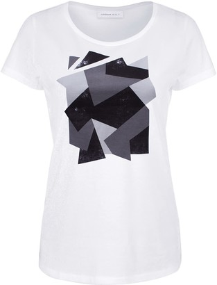 Urban Gilt Telford White Camouflage Print T-Shirt