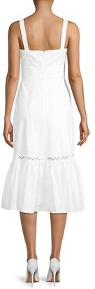BCBGMAXAZRIA Cutout Flounce Dress