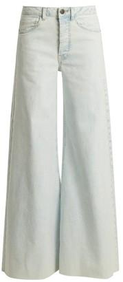 Raey Loon Wide-leg Jeans - Womens - Blue White