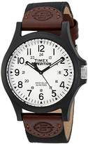 Timex Men's TW4B08200 Expedition Acadia Leather/Nylon Strap Watch