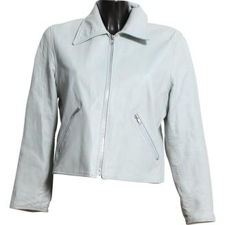 Jill Stuart Blue Leather Jacket for Women