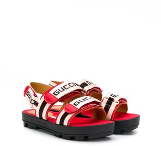 Gucci Kids Logo Stripe Sandals