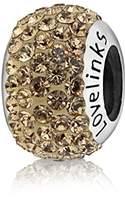 Lovelinks 925 Sterling Silver Golden Cubic Zirconia Bead