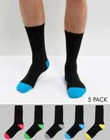 Brave Soul 5 Pack Socks