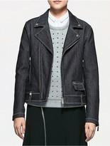Calvin Klein Platinum Bonded Denim Biker Jacket