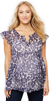 A Pea in the Pod Printed Babydoll Maternity Blouse
