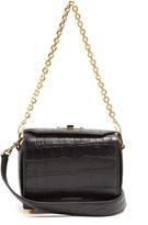 Alexander McQueen Box 19 crocodile-effect leather cross-body bag