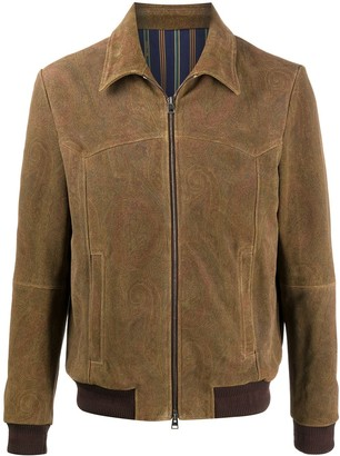 Etro Paisley Print Collared Jacket