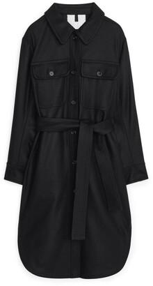 Arket Wool Overshirt Coat