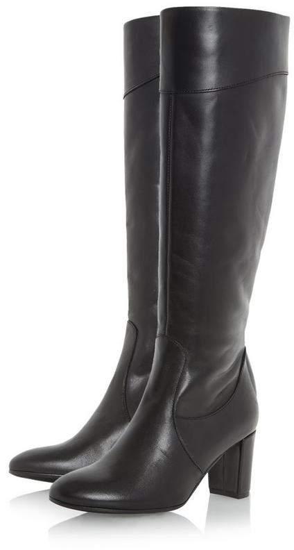 Roberto Vianni SIVARNA - Block Heel Leather Knee High Boot