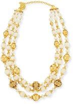 Jose & Maria Barrera Beaded Three-Strand Necklace