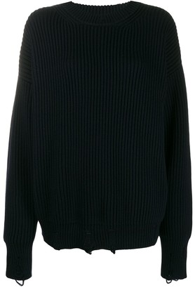 Nina Ricci Distressed Wool Jumper