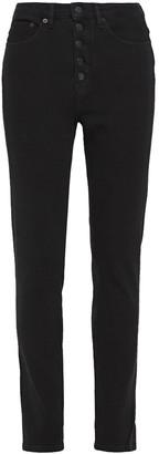 Victoria Victoria Beckham Button-detailed High-rise Slim-leg Jeans