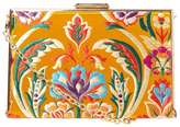 Dorothy Perkins Yellow Oriental Box Clutch Bag