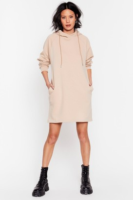 Nasty Gal Womens In My Head Space Hoodie Dress - Biscuit