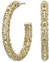 Kendra Scott Maggie 1.5 Hoop Earrings (Gold Filigree Metal) Earring