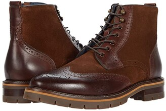 Johnston & Murphy Cody Wing Tip Zip Boot (Mahogany Full Grain Leather) Men's Boots