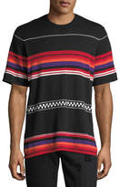 Ovadia & Sons Jacquard Striped Knit Shirt