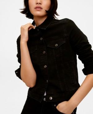 MANGO Women's Black Denim Jacket