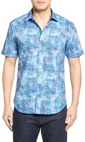 Bugatchi Men's Shaped Fit Sport Shirt